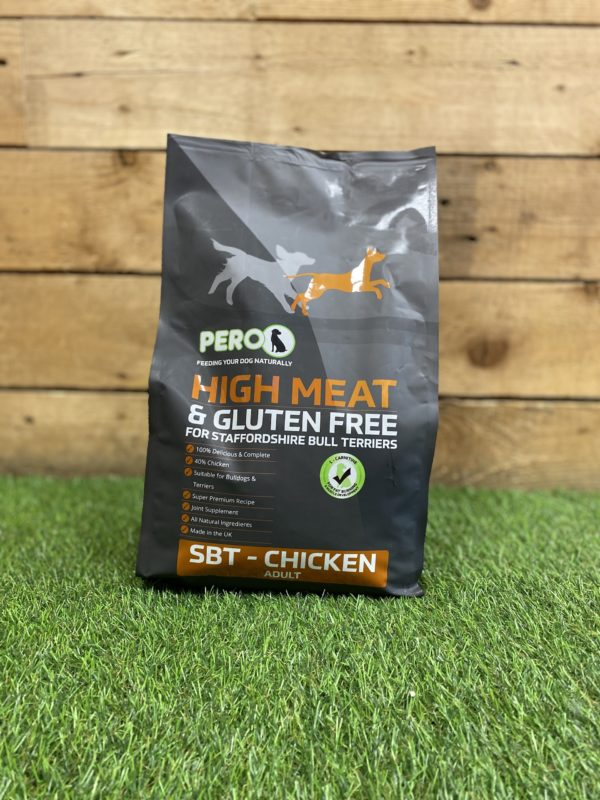 Pero High Meat Gluten Free Biscuits Staffordshire Bull Terrier Chicken