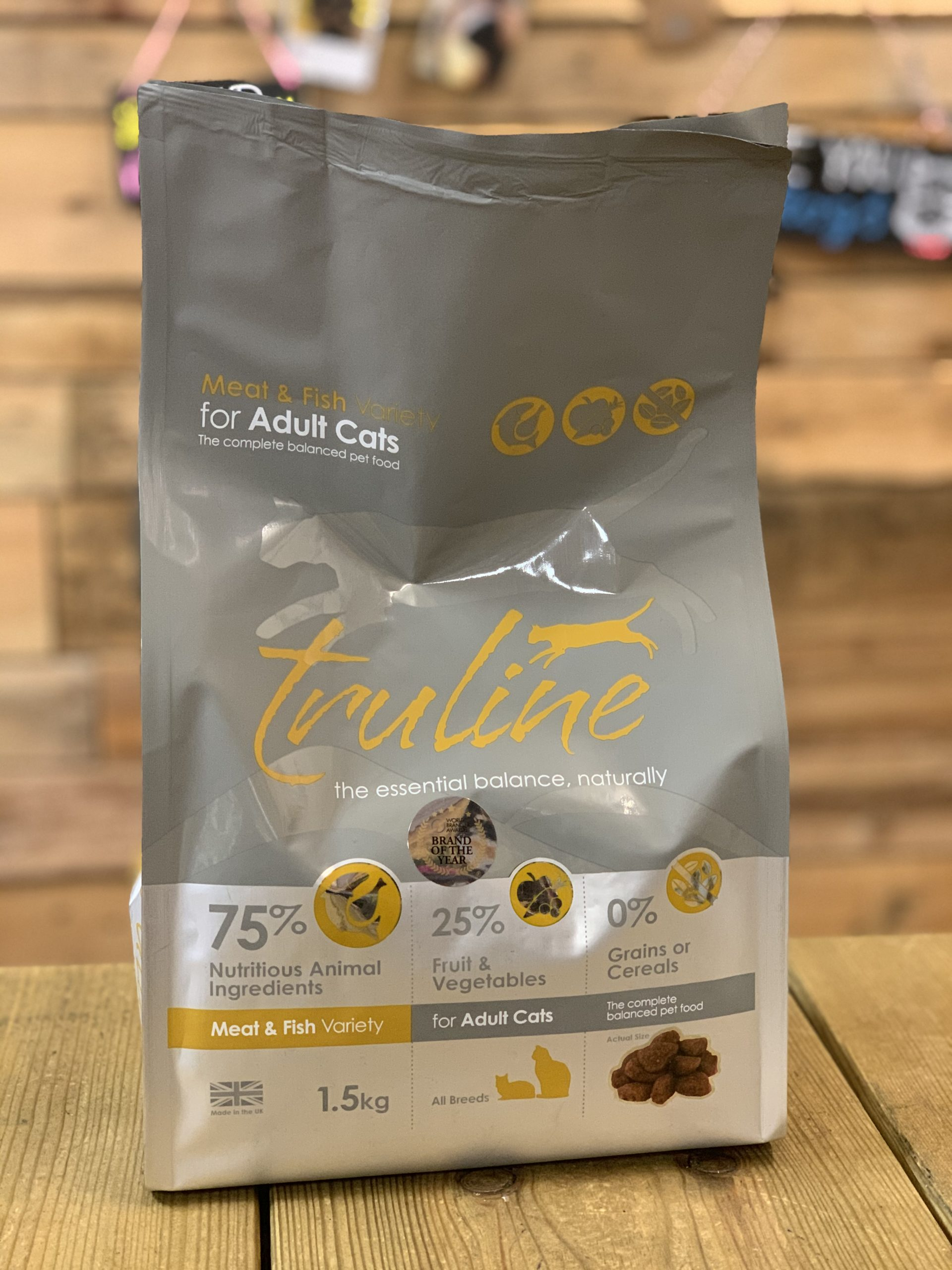 Truline Dry Cat Food Meat and Fish
